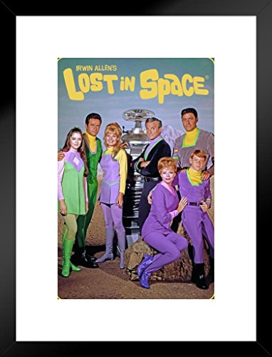 Lost Tv Show Poster - Poster Foundry Lost in Space Cast Photo TV Show Matted Framed Wall Art Print 20x26 inch
