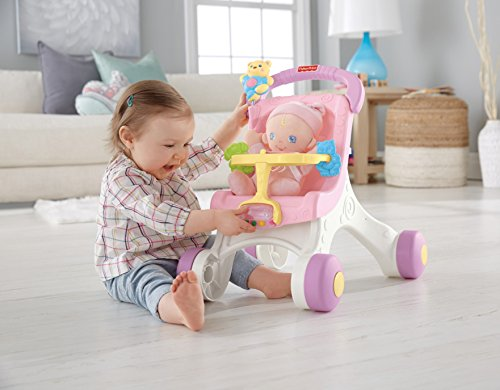 515zmp6fLLL - Fisher-Price Brilliant Basics Stroll-Along Walker