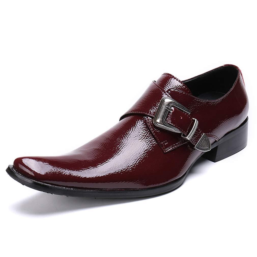 servicio honesto Promoción por tiempo limitado YAN Zapatos Zapatos Zapatos Formales para Hombres Zapatos de Negocios de Moda de otoño e Invierno de Cuero Puntiagudos para Negocios/Casual / Zapatos de Fiesta y de Noche (Color : Rojo, tamaño : 37)  barato