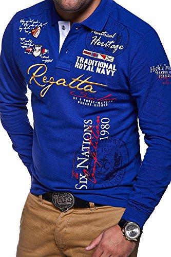 MT Styles Langarm Poloshirt REGATTA T-Shirt MP-452 [Blau, L]