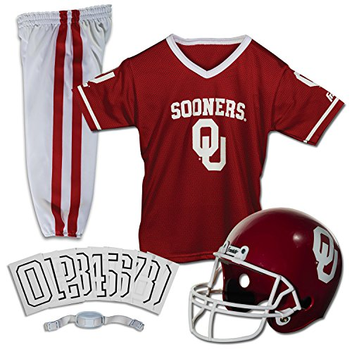 Franklin Sports NCAA Oklahoma Sooners Deluxe Youth Team Uniform Set, Medium