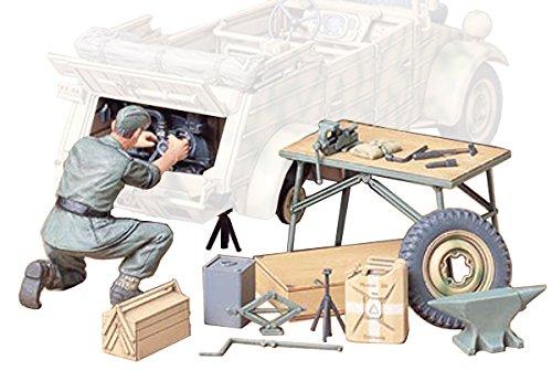 German Tank Accessories - Tamiya 300035220-1: 35Diorama Set Maintenance Kit Tub Cart (1)