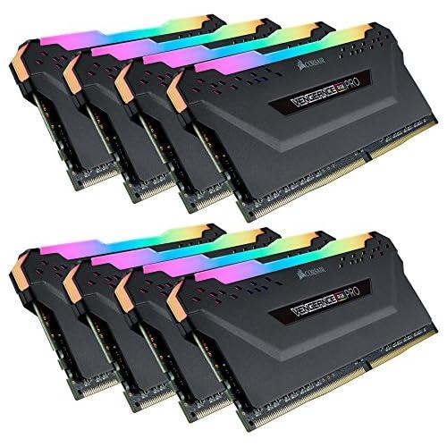 chollos oferta descuentos barato Corsair Vengeance RGB Pro Kit de Memoria Entusiasta 64 GB 8 x 8 GB DDR4 3466 MHz C16 XMP 2 0 Iluminación LED RGB Negro