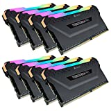 Corsair CMW128GX4M8C3200C16 Vengeance RGB PRO 128GB (8x16GB) DDR4 3200 (PC4-25600) C16 Desktop Memory Black