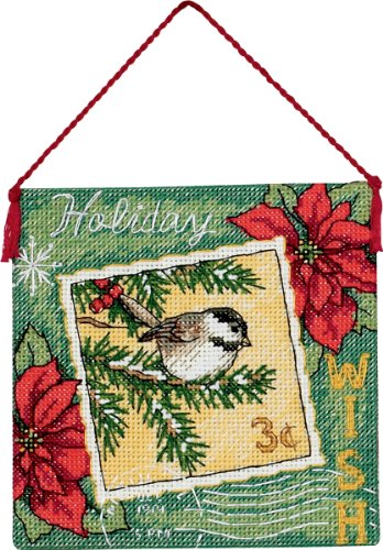 Dimensions Needlecrafts Counted Cross Stitch, Wish Ornament