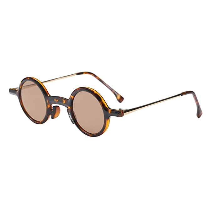 Zhhlinyuan Vintage Gafas Pequeñas Definidas Gafas Redondas y ...