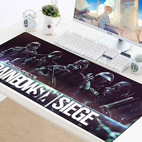 sasdasld Mouse Pad Natural Rubber Gaming Mousepad Gamer Mat Large Rainbow Six Siege Keyboard Computer Laptop Pad for Mouse-300x800mm