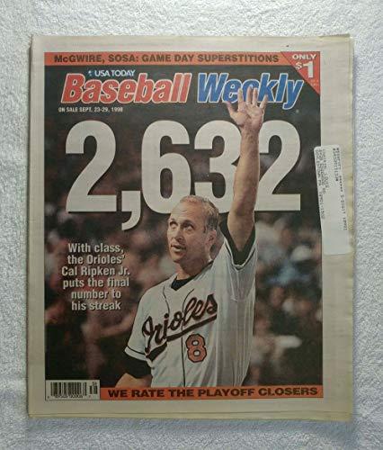 Cal Ripken Jr. (Baltimore Orioles) - Streak Ends at 2,632 Games in a Row - Baseball Weekly Magazine - September 23, - Final Game Baltimore Orioles