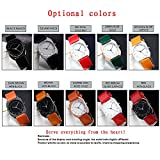 Simple Women Watches Leather Strap Black Dial