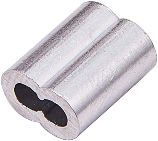 200 stück M1 Ovales Alu Klemme Pressklemmen Stahlseil für 1mm Drahtseil