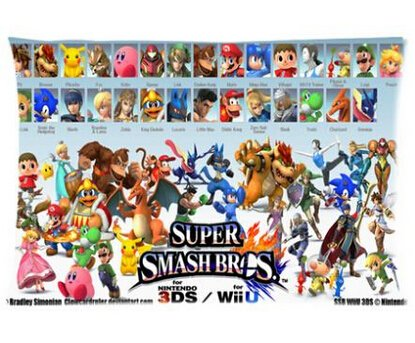 """Price comparison product image Super Smash Bros Pillowcases Custom 20""""x30"""" Two Sides Cool Comfortable Pillow Case"""