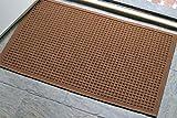 WaterHog Fashion Commercial-Grade Entrance Mat, Indoor/Outdoor Charcoal Floor Mat 3' Length x 2' Width, Dark Brown by M+A Matting