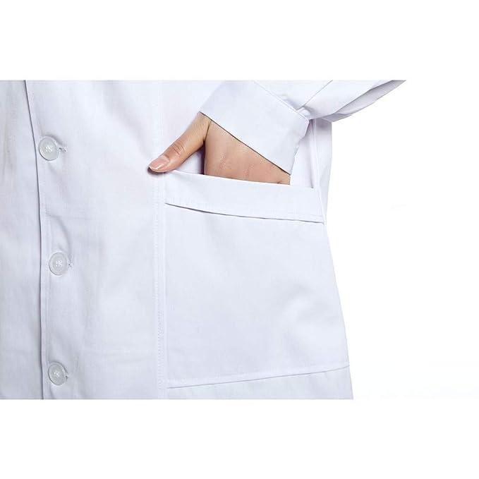 ESENHUANG Batas De Laboratorio Batas De Laboratorio Uniformes Batas Médicas Batas De Médico De Uniforme Dental: Amazon.es: Ropa y accesorios