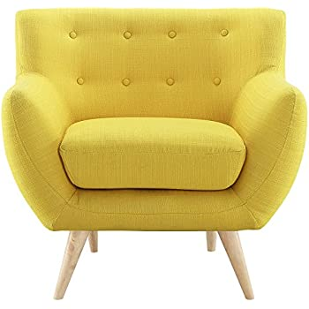 Modway Remark Mid-Century Modern Armchair With Upholstered Fabric In Sunny