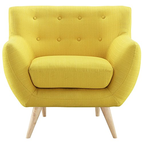 Attirant Modway EEI 1631 SUN Remark Mid Century Modern Accent Arm Lounge Chair With  Upholstered Fabric Sunny