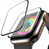 Screen Protector for Apple Watch, MIZOO [2-Pack] (44mm for Series 4) Liquid Skin HD Clear Max Coverage and Anti-Bubble Anti-Fingerprint Anti-Smudge Scratch Resistance