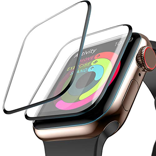 [2-Pack] Screen Protector for Apple Watch, (44mm for Series 4) Liquid Skin HD Clear Max Coverage and Anti-Bubble Anti-Fingerprint Anti-Smudge Scratch Resistance