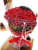 fleurcocoオリジナル 赤バラ花束100本 おしゃれなギフトラッピングでお届け 【 誕生日プレゼント 結婚記念日 結婚祝い プロポーズ 退職祝い  花 お祝い】