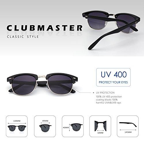 ... CGID MJ56 Lunettes de soleil demi-cerclées écailles demi monture  inspirées Clubmaster Premium avec rivets ... 31e9050f4dc8