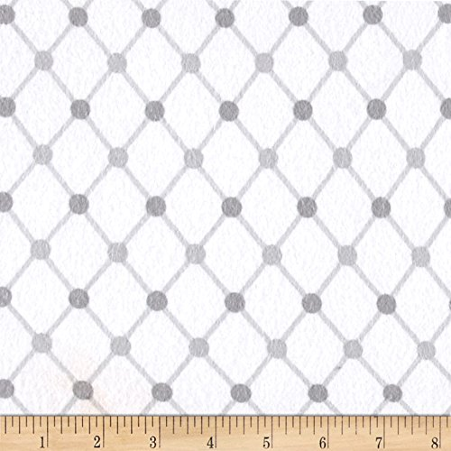 Robert Kaufman Cozy Cotton Flannel Trellis Fabric, White, Fabric by the ()