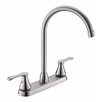 Vccucine Modern Commercial High Arc Goose Neck Two Handle Brushed