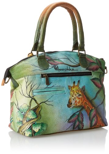 Anuschka Hand-Painted Leather Medium Convertible Satchel | Top Handle Shoulder Bag/Purse | African Adventure by Anuschka (Image #2)