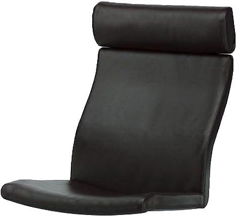 Espuma de la memoria de lino cojín de Poang sillón de piel ...