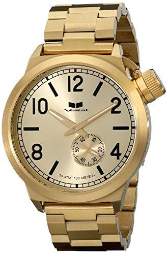 "Vestal Men's CTN3M04 ""Canteen"" Gold-tone Stainless Steel Watch"