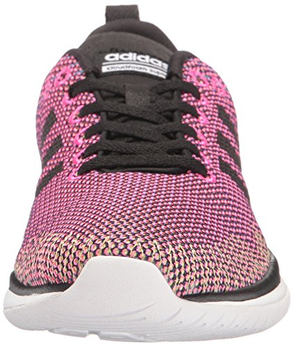 Adidas Neo Donna Cloudfoam Super Flex W Scarpa Da Corsa Shock Rosa / Nero / Bianco