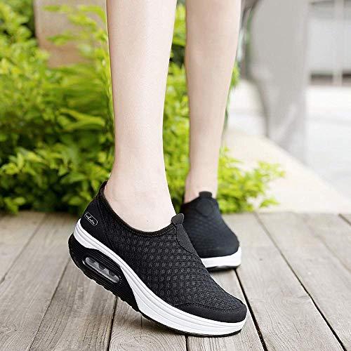Blu Uk Con Suola colore Fondo Mesh 5 Outdoor Womens Shoes Casual Sneakers Spessa Sports Dimensione Qiusa Nero E Morbido xUFTH0wqw