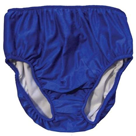 Adult Swim Diapers - Reusable Diaper for the Pool (S-Waist: 26-36; Leg: 17-23, Blue) My Pool Pal 4AD02
