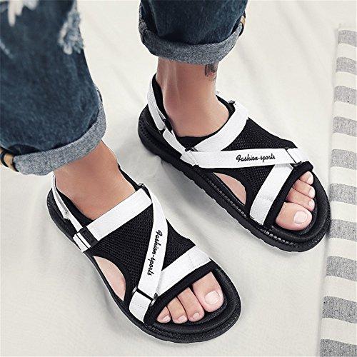 Traspiranti Dimensione Wagsiyi Sandali pantofole Bianca EU Scarpe Da da Sandali Da Uomo Uomo 42 spiaggia Casual Colore Casual Nero Sandali nqapExrwq8