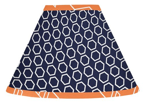 Sweet Jojo Designs Orange and Navy Blue Lamp Shade for Arrow Bedding Collection by Sweet Jojo Designs