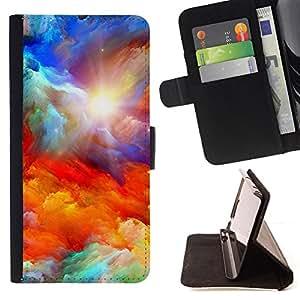 "For Sony Xperia Z5 Compact Z5 Mini (Not for Normal Z5),S-type Dios Majestic Nubes Sun sueño"" - Dibujo PU billetera de cuero Funda Case Caso de la piel de la bolsa protectora"