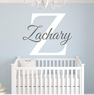 Amazoncom Custom Square Boy Name Wall Decal Boys Kids Room - Monogram wall decals for nursery
