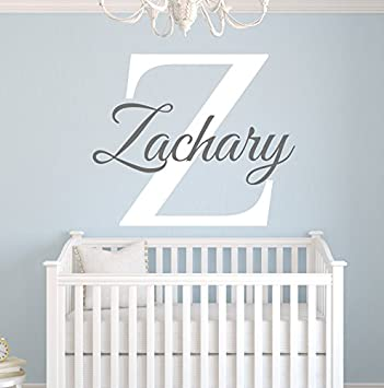 Amazoncom Custom Name Monogram Wall Decal For Boys Nursery - Monogram vinyl wall decals for boys