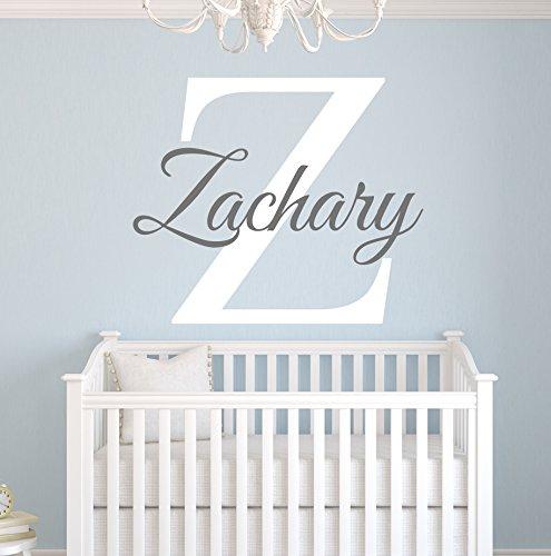 Custom Name Monogram Wall Decal for Boys - Nursery Wall (Boys Monogram)