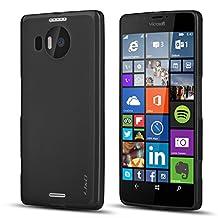 Lumia 950 XL Case, J&D [Drop Protection] Microsoft Lumia 950 XL Case [Slim Cushion] Shock Resistant Protective Premium Jelly Case Slim Case for Lumia 950 XL (Lumia 950 XL, Black)