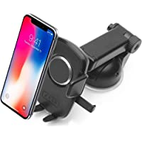 Zaap Quick Touch One 360 Adjustable 3-in-1 Car Mount Holder for All Smartphones (Pro Series, Black)