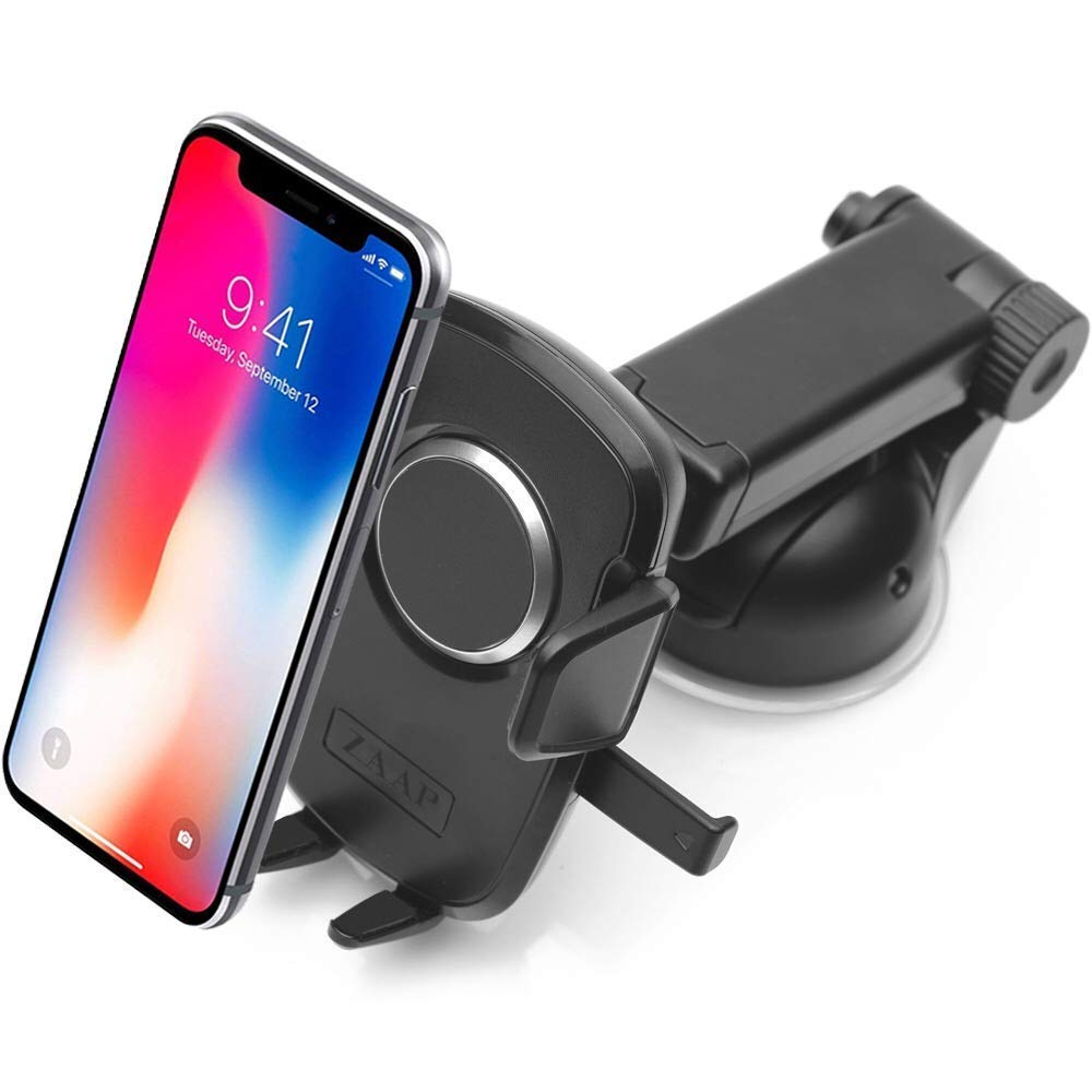 Car Phone Holder Carbon Fiber Mobile Phone Accessories Universal Car Bracket 360 Rotating Adjustable GPS Smartphone Holder Mobile Phone Holder AICH Cell Phone Stand