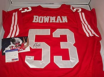 navorro bowman stitched jersey