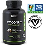 Coconut Oil veggie-softgels made from Organic Coconuts | The Only non-GMO project verified, Vegan safe, Extra Virgin Coconut Oil Supplement Available (120 Veggie-Softgels)