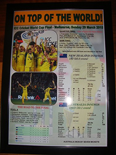 Australia 2015 ICC Cricket World Cup Winners - framed print (World Cup 2015 Cricket)