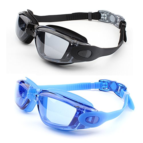 Swimming Goggles,GUQI Swim Goggles for Adult Men Women Youth Kids Child with Cap,Nose Clip,Ear Plugs,No Leaking Comfortable Anti Fog - For Girl Goggles Images