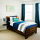 Beddy's Nautical Navy Zippered Bed Set (Twin Sized Bedding Mattress Cover, Sheets and Zipper Comforter All in One Set)