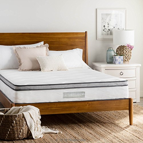 WEEKENDER 10 Inch Hybrid Mattress - Memory Foam and Motion Isolating Springs - Medium-Firm - 10-Year Warranty - Twin XL
