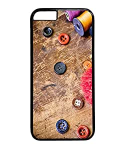 VUTTOO Iphone 6 Plus Case, Cool Buttons Vintage Customize Hard Back Case for Apple Iphone 6 Plus 5.5 Inch PC Black