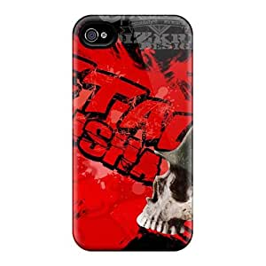 Protector Hard Phone Cases For Iphone 4/4s (nAS7949iIKe) Allow Personal Design Beautiful Metallica Skin