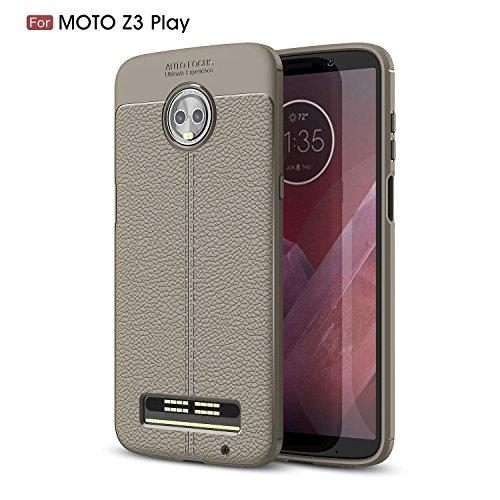 DAMONDY Moto Z3 Play Case, 3D Skin Painting Non Slip Armor Shock Absorption Carbon Fiber Texture Soft Full Protection Phone Case for Motorola Moto Z3 - Mod Fiber