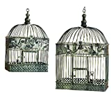 Best Woodland Imports Bird Cages - Deco 79 88016 2-Piece Metal Square Bird Cage Review